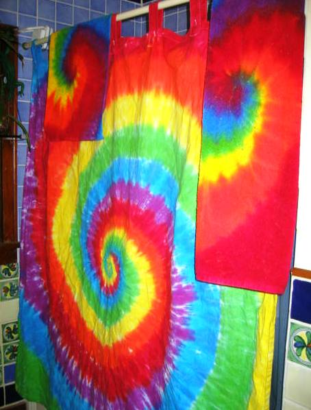 Psychedelic Bathroom Shower Curtain Towel Set