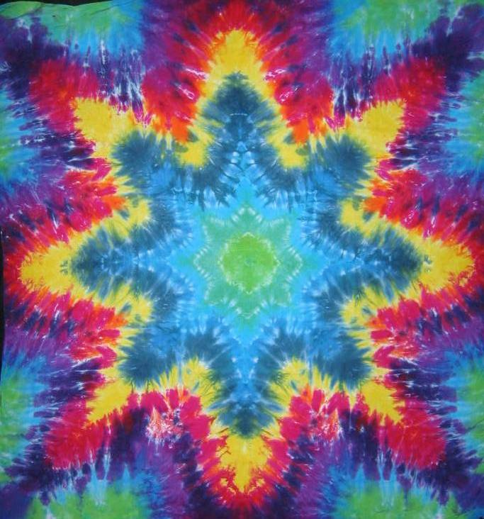 Tie Dyed Mandala Tapestry 15