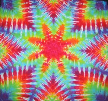 Tie Dyed Mandala Tapestry 23