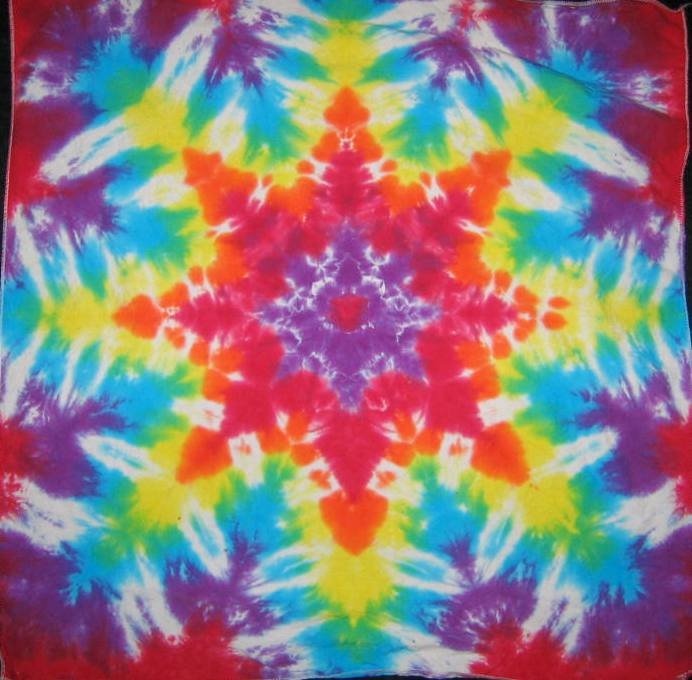 Tie Dyed Mandala Tapestry 24