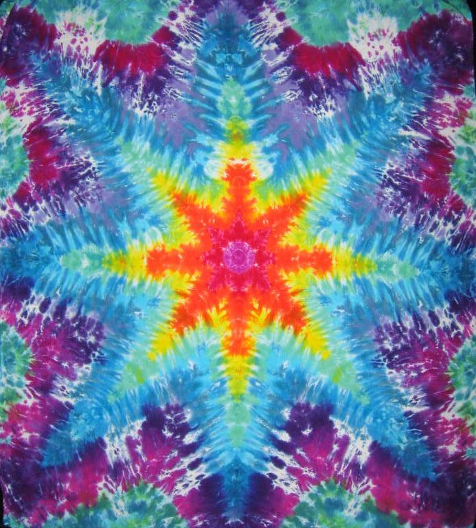 Tie Dyed Mandala Tapestry 26