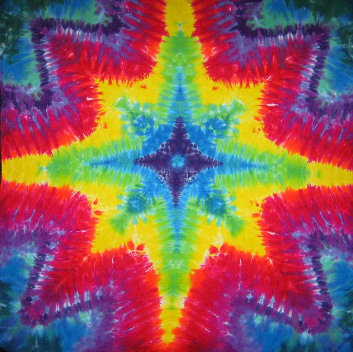 Tie Dyed Mandala Tapestry 27