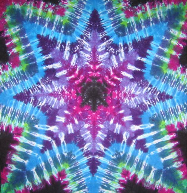 Tie Dyed Mandala Tapestry 30
